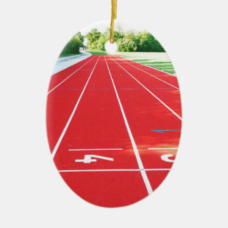 Track and Field - Runner Print Ceramic Ornament