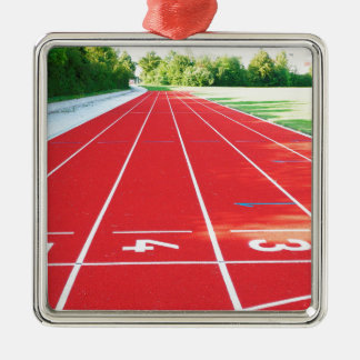 Track and Field - Runner Print Metal Ornament