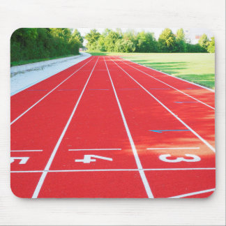 Track and Field - Runner Print Mouse Pad