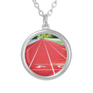 Track and Field - Runner Print Silver Plated Necklace