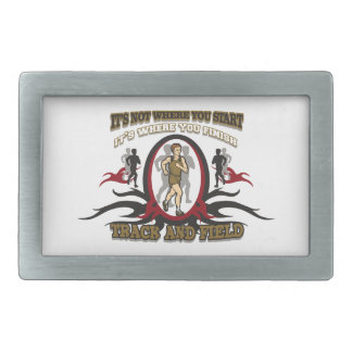Track and Field Start Belt Buckle