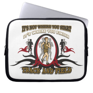 Track and Field Start Laptop Sleeve