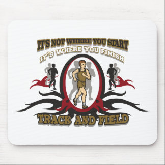 Track and Field Start Mouse Pad