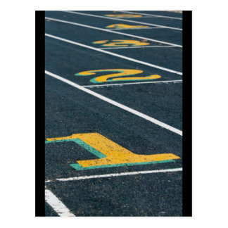track and field themes postcard