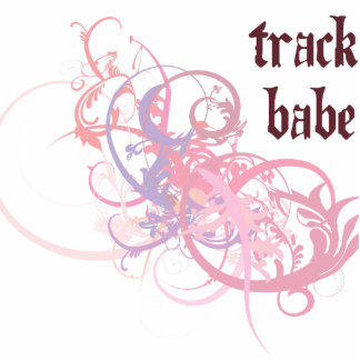 Track Babe Photo Cut Outs
