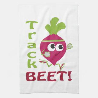 Track Beet Kitchen Towels