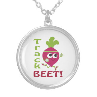 Track Beet Silver Plated Necklace