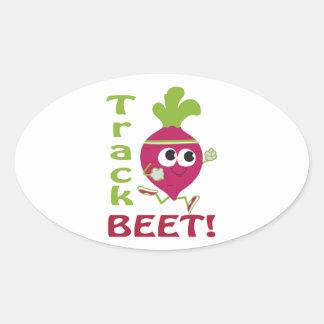 Track Beet Oval Sticker