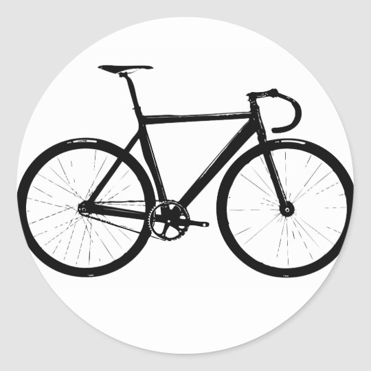 Track Bicycle Classic Round Sticker