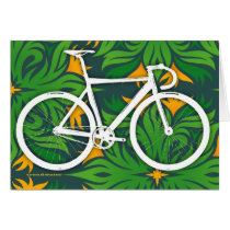 Track Bicycle - Fiery Green Pattern