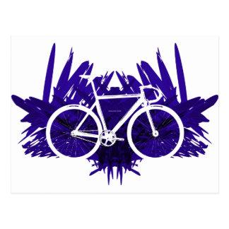 Track Bicycle on Violet Postcard