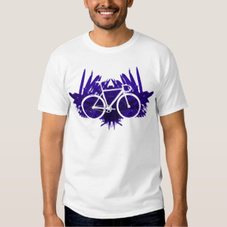 Track Bicycle on Violet T Shirt