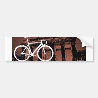 Track Bike Berlin Bronze Car Bumper Sticker