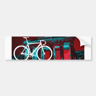 Track Bike Berlin - red blue Car Bumper Sticker