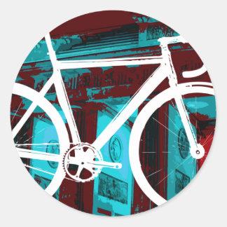 Track Bike Berlin - red blue Classic Round Sticker