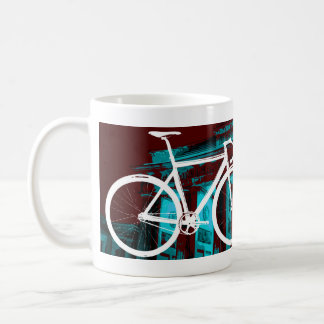 Track Bike Berlin - red blue Coffee Mug