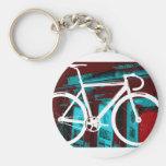 Track Bike Berlin - red blue Key Chains