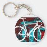 Track Bike Berlin - red blue Keychain
