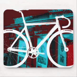 Track Bike Berlin - red blue Mouse Pad