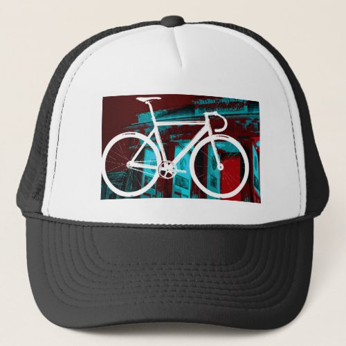 Track Bike Berlin _ red blue Trucker Hat