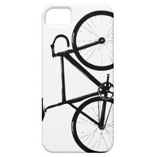 Track Bike - black on white iPhone SE/5/5s Case