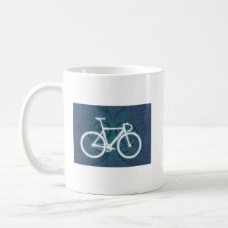 Track Bike - blue tattoo style Coffee Mug