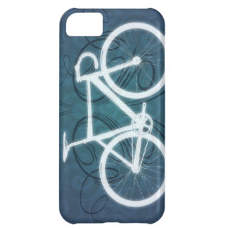 Track Bike - blue tattoo style Cover For iPhone 5C