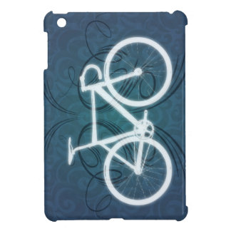 Track Bike - blue tattoo style iPad Mini Cover