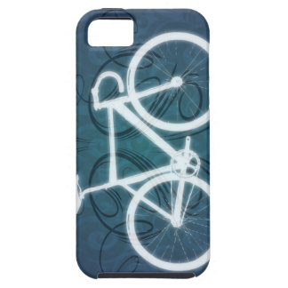 Track Bike - blue tattoo style iPhone SE/5/5s Case