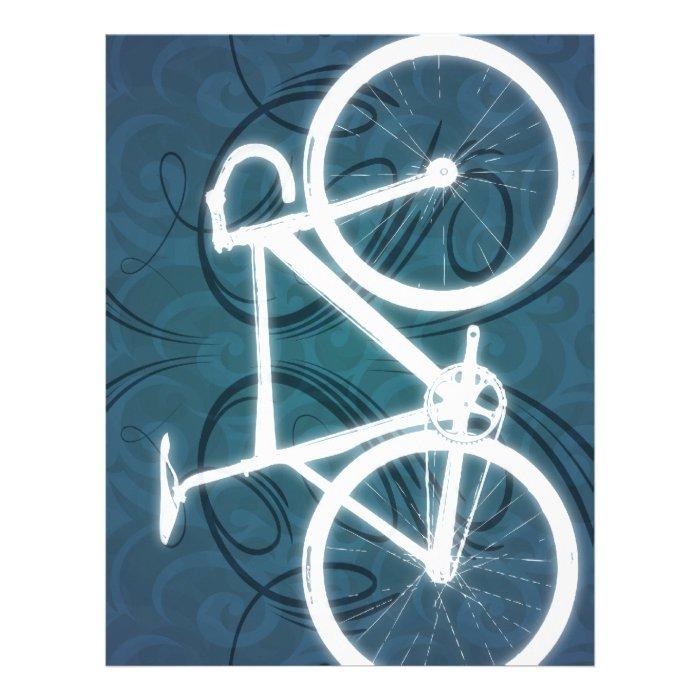 Track Bike - blue tattoo style Letterhead