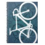 Track Bike - blue tattoo style Note Book