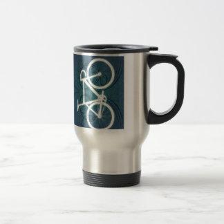 Track Bike - blue tattoo style Travel Mug