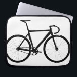 """Track Bike Laptop Sleeve<br><div class=""""desc"""">track bicycle design by treadwater</div>"""