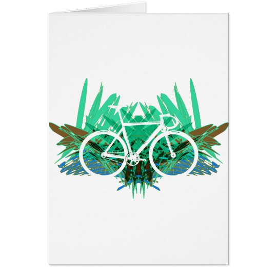 Track Bike on Green Graphic Card
