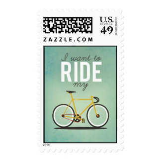 Track Bike Postage Stamps