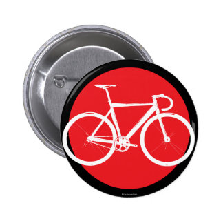 Track Bike - Red Dot Pinback Button