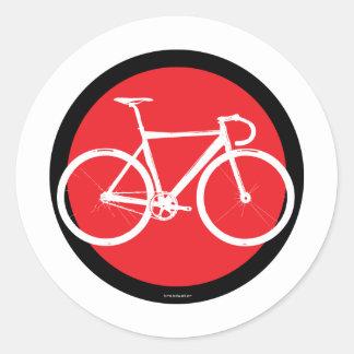 Track Bike - Red Dot Classic Round Sticker