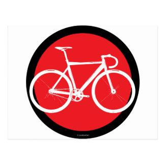 Track Bike - Red Dot Postcard