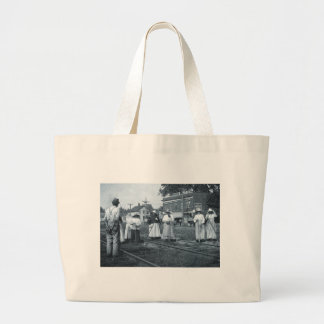 Track Cleaners New York Central Railroad Vintage Canvas Bag