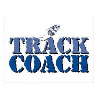 Track Coach Postcard