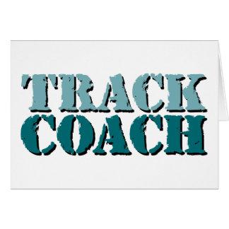 Track Coach teal Greeting Card