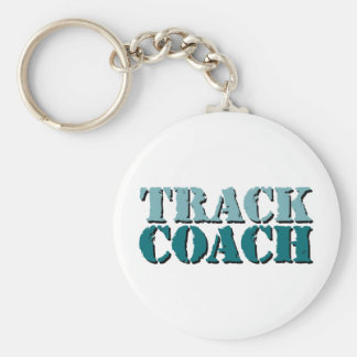 Track Coach teal Keychain