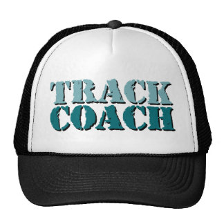 Track Coach teal Trucker Hat