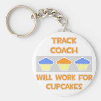 Track Coach Will Work For Cupcakes Keychains