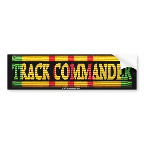 Track Commander Vietnam Service Ribbon Bumper Stic bumpersticker