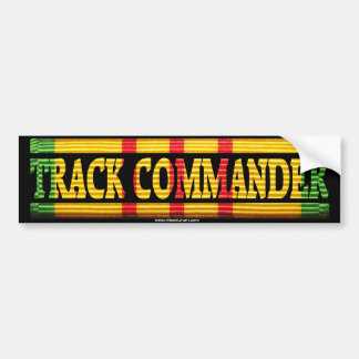 Track Commander Vietnam Service Ribbon Bumper Stic Bumper Sticker