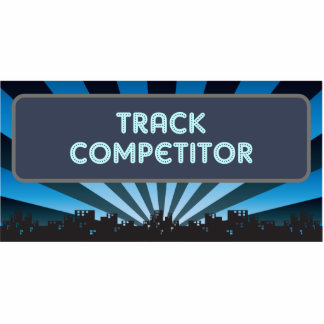 Track Competitor Marquee Photo Sculpture