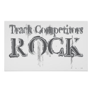 Track Competitors Rock Poster