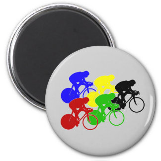 Track Cycling Bicycle Race Bike Riders   2 Inch Round Magnet