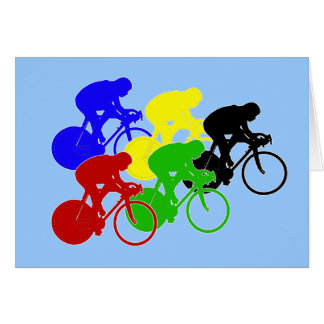 Track Cycling Bicycle Race Bike Riders   Card